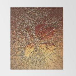 Rust glitter leaves in fall Throw Blanket