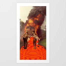 Disco Inferno Art Print