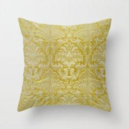 French silk yellow Throw Pillow