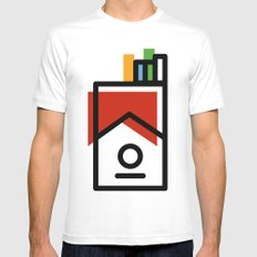 cigarette pack minimal Mens Fitted Tee White MEDIUM