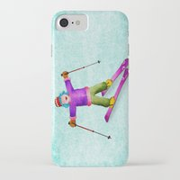tina crespo iPhone & iPod Cases featuring Tina Skiing by Tina