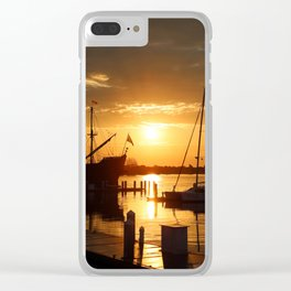 Boat Sunrise 1 Clear iPhone Case