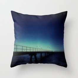 Island Jetty and Birds  Throw Pillow