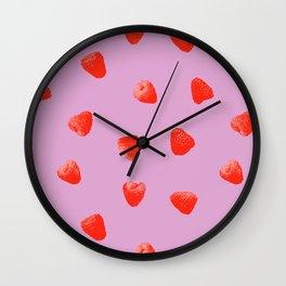 Raspberry Heaven Wall Clock