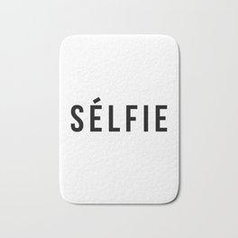 Selfie - version 1 - black Bath Mat