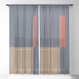 Contemporary Composition 29 Sheer Curtain