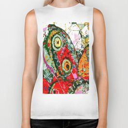 Beauty on Wings and Wind Abstract Biker Tank