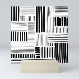 Black and White Abstract Pattern Mini Art Print