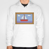 simpsons Hoodies featuring Simpsons Sailboat Artwork by d3mentia