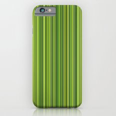 Many multicolored strips in the green sample Slim Case iPhone 6s
