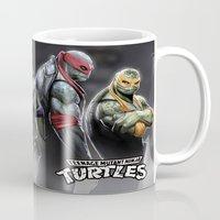ninja turtles Mugs featuring ninja turtles  , ninja turtles  games, ninja turtles  blanket, ninja turtles  duvet cover by ira gora
