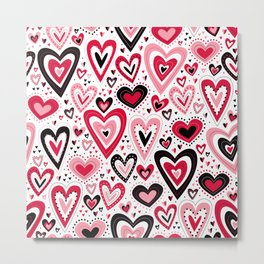 Lovely Hearts Metal Print