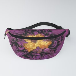 Royal Purple Georgia O'Keefe style Fanny Pack