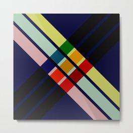 Punuda - Colorful Abstract X Art Metal Print