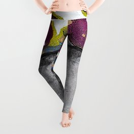 Just Float Hand Painted Acrylic Abstract Leggings