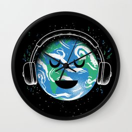 The whole planet loves music Wall Clock