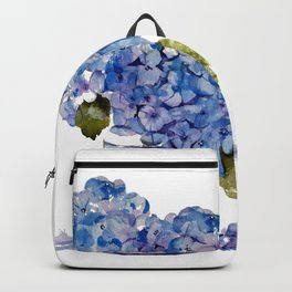 Cape Cod Hydrangea Large Canvas Backpack