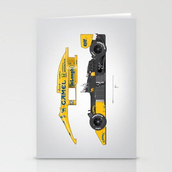 Outline Series N.º5, Ayrton Senna, Lotus 99T-Honda, 1987 Stationery Cards