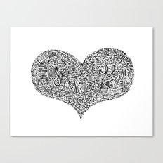 All I need - Lyrics doodle Canvas Print