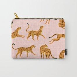 Leopard jaguar pink memphis pattern Carry-All Pouch