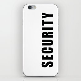 SECURITY TEE SHIRT inverse edition iPhone Skin
