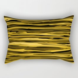 Honey Yellow Abstract Drizzle Rectangular Pillow