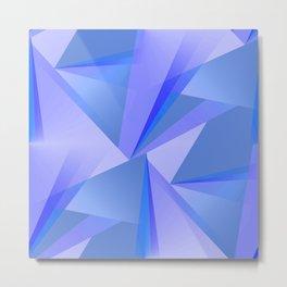 Meditation - Blue Abstract Metal Print