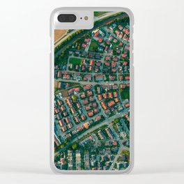 Farm vs City Aerial (Color) Clear iPhone Case