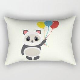 Cute panda holding balloons cartoon Rectangular Pillow