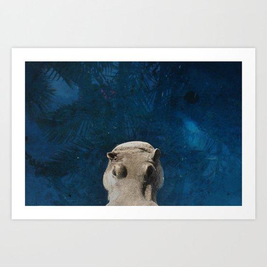 Hippo on the Tropic of Capricorn  Art Print