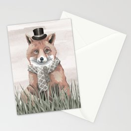 Fox in the Field Stationery Cards