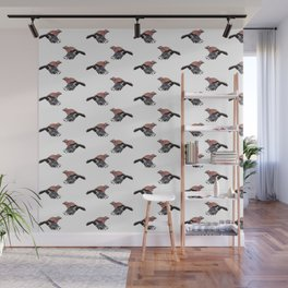 Pattern: Jay on white Wall Mural