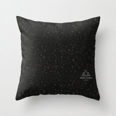 Trail Status / Technical Black Throw Pillow