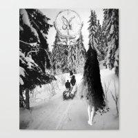pagan Canvas Prints featuring Pagan forest by Kristina Haritonova