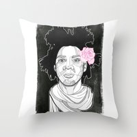 basquiat Throw Pillows featuring Basquiat by DonCarlos