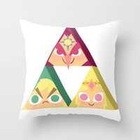 triforce Throw Pillows featuring triforce! by Spencer Duffy