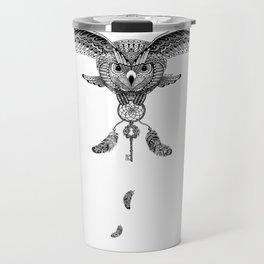 The owl is dreaming Travel Mug