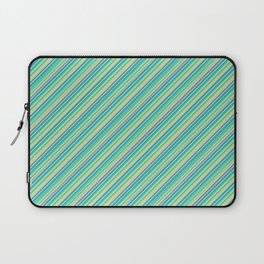 Lime Inclined Stripes Laptop Sleeve
