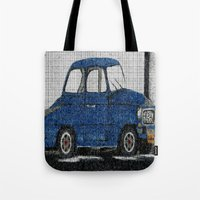 cuba Tote Bags featuring Cuba Car by Sartoris ART