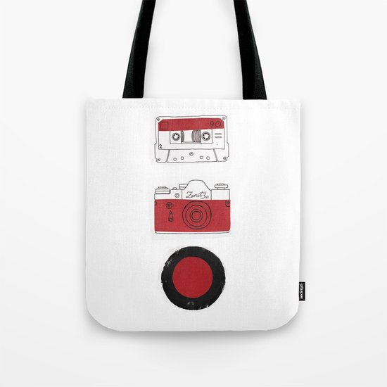 Red And Black. Tote Bag