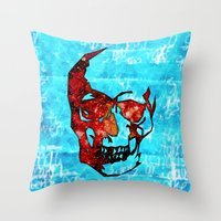 dead space Throw Pillows featuring Dead Space II by Fimbis