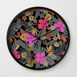 Dark tropical Wall Clock