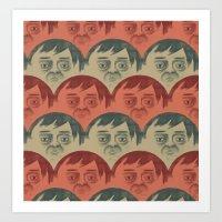 it crowd Art Prints featuring CROWD by Renato Klieger Gennari