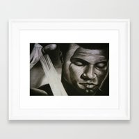 ali Framed Art Prints featuring ALI by John McGlynn