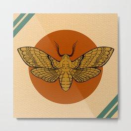 Vintage Death Head Moth Metal Print