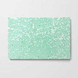 Hedge Maze Fun Metal Print