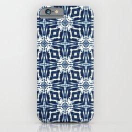 Watercolor Shibori Indigo iPhone Case