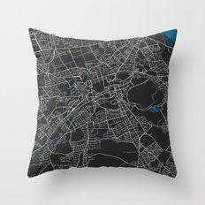 Edinburgh city map black colour Throw Pillow