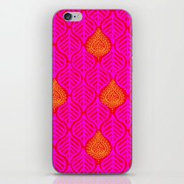 PLANTAIN PALACE - RED/PINK/ORANGE iPhone Skin