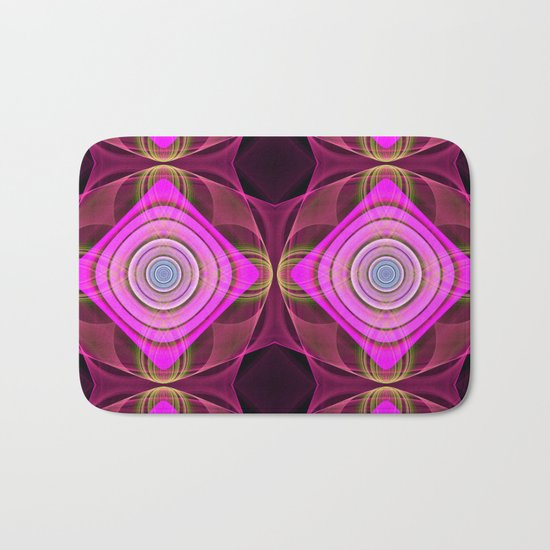 Colourful geometric abstract with translucent patterns Bath Mat